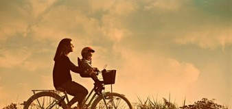 Mother Child People Bicycle Ride